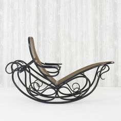 1910 Crazy rocking lounge by Thonet.  I liked the classic bentwood rocker..this one just keeps on curling...