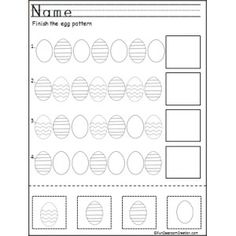 Kindergarten Easter Egg Patterns
