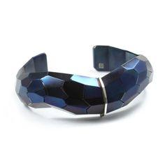 David Choi - Faceted Cuff | Steel, silver, size: medium. $650 www.siennagallery.com.