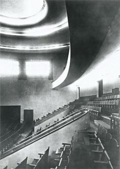 Theater inside the Vesnin brothers' ZIL Palace of Labor in Moscow, 1931