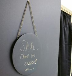 Esthetician room sign
