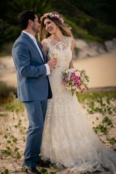 Bride and groom creative portrait