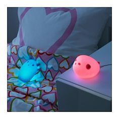 LED bulbs make great night lights, especially since they last up to 25,000 hours. Your children will most likely outgrow their fear of the dark before the lights go out. The light is turned on and off by pressing the ghost's head. Perfect for scaring little night monsters away.