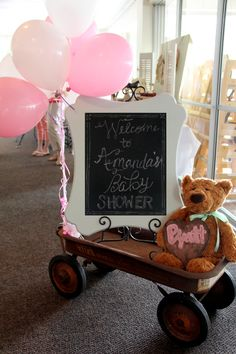 Welcome Wagon - shabby shic baby shower
