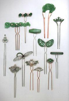 jade hairpins More