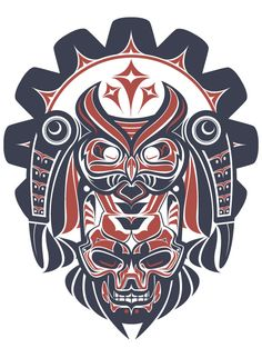 Haida inspired art Haida inspired art. I love this style, so bold.