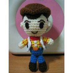 Toys Story Amigurumi : Woody from Toy Story I could use bead eyes to make it ...