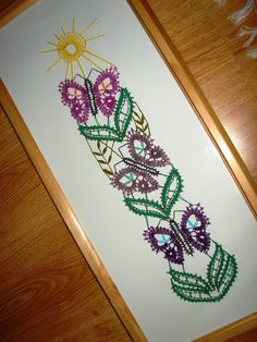 bobbin lace - Butterflies Lace Making, Bobbin Lace, Simple Art, Insects, Diy And Crafts, Butterfly, Embroidery, Beads, Tattoos