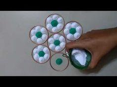super easy, simple and attractive Rangoli Design using bangles || Daily Rangoli || आसान डेली रंगोली - YouTube