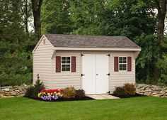 Designed and crafted with simplicity in mind, our Quaker shed puts the spotlight on utility. There is enough style to add beauty and value to your property. Vinyl Storage Sheds, Vinyl Sheds, Shed Storage, Built In Storage, Architecture Details, Storage Solutions, Outdoor Structures, Building, Spotlight