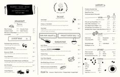 Menu (with identity) for Jack's Wife Freda in NYC - from Art of the Menu (AWESOME INSPIRATION SITE!)