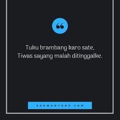 [ 100+ ] Gambar Parikan Lucu Loro Ati Bahasa Jawa Terbaru 2019 - Sakmadyone.com Cartoon Quotes, Jokes Quotes, Funny Quotes, Quotes Lucu, Quotes Galau, Hard Quotes, Best Quotes, Study Motivation Quotes, Quotes Indonesia