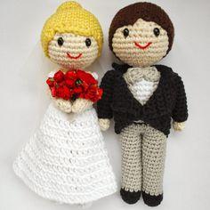 Crafteando, que es gerundio: Patrón de los novios de amigurumi /Wedding couple pattern. Cake topper amigurumi