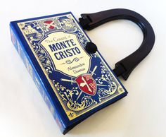 The Count of Monte Cristo Upcycled Book Purse by NovelCreations, $58.00 with the shoulder length handle