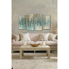 PicturePerfectInternational 'Revealed' by Mark Lawrence 4 Piece Painting Print on Wrapped Canvas Set & Reviews | Wayfair