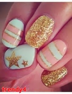 French Nail Art for teens 2014