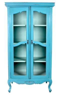 Turquoise Iona Display Cabinet