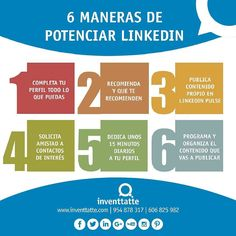 Sacar el mayor rendimiento a tu perfil de #Linkedin es sencillo si sigues las recomendaciones que te ofrecemos en esta infografía. #redessociales #linkedin #visibilidad #infografia #socialmedia #marketingonline #marketingonlinesevilla #marketingdigital #communitymanager #communitymanagersevilla #marketing #engagement #marketingdecontenidos #empleo #profesional #perfilprofesional #identidad #reputaciononline