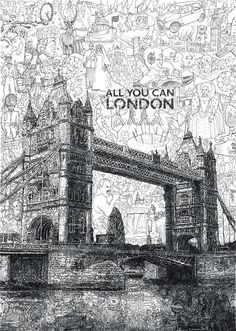Tiny Doodles Collectively Form Larger Cultural Illustrations - My Modern Metropolis Its London Its doodle art LOVE THIS. Doodle Drawings, Doodle Art, Ink Illustrations, Illustration Art, London Illustration, Ogilvy Mather, Cities, Modern Metropolis, City Break