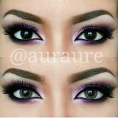 Purple Eye Makeup :)