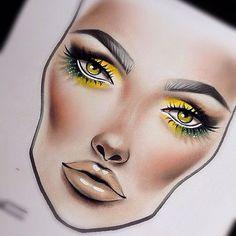 Facechart created by @kryatova.nata