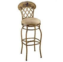 Rooster Swivel Counter Stool, Country Beige