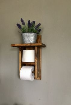 We are excited to add this Toilet Paper holder to our wood collection. Give your bathroom a rustic décor with this farmhouse toilet paper holder. This toilet roll holder holds more then one roll of toilet paper. Always have that extra roll handy.   What you will receive in your package: One wood toilet paper holder. (Decorations are not include with this listing)