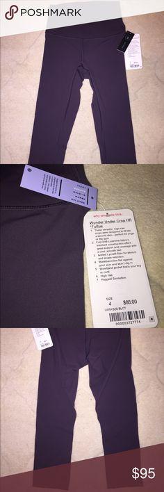 39bd1be0800c3 Lulu pants and crops · ❗️NWT Lululemon Wunder Under (High Rise) Pants 4  Black currant color, never