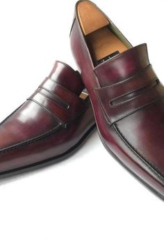 76f1dc7c5cf6 Handmade Men Burgundy Formal Leather Shoes