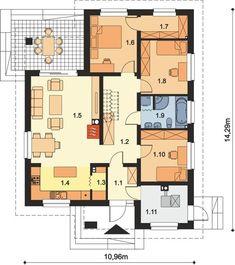DOM.PL™ - Projekt domu ARP FIDEL CE - DOM AP2-05 - gotowy koszt budowy 100 M2, Floor Plans, Floor Plan Drawing, House Floor Plans
