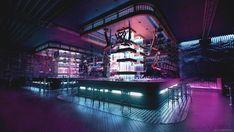 ArtStation - Futuristic bar , Alex Medvediev