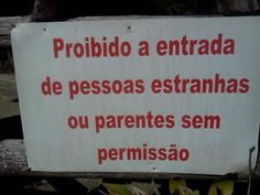 Proibida a entrada