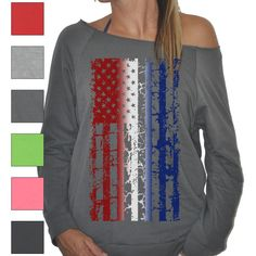 6 Color New Womens Ladies Soft Long Sleeve Off Shoulder Thin Sweater... ($20) ❤ liked on Polyvore featuring tops, black, sweaters, women's clothing, american flag shirt, off the shoulder tops, black top, long sleeve shirts and long sleeve tops