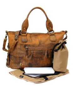Jungle Leather Slouch Tote, OiOi