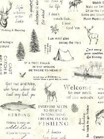 Wall Paper North Hills Cream Script pattern TLL01471. Keywords describing this pattern are camping, camping, woods, quotes, outdoors, hobbies, hobby.  Colors in this pattern are Yellow, Yellow Green.  Alternate color patterns are TLL01472;Page:36.  Product Details:  Material is Vinyl Coated. Product Information:  Book name: Echo Lake Lodge Pattern name: North Hills Cream Script Pattern #: TLL01471 Repeat Length: 20 1/2 inches.  Pattern Length: 16 1/2 inches.  Pattern Length: 20 1/2 inches.