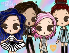 Little mix chibi!!!!!! Too adorable!!!!!!!!!