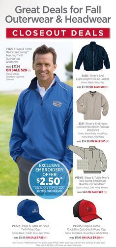Huge Savings on Closeout Styles for Fall