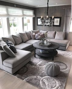 The way you decorate your home is somehow similar to choosing beautiful clothes to wear on a daily basis. An impressive interior decoration of your home or office is essential for your own state of mind, if nothing else. Living Room Goals, Home Living Room, Living Room Designs, Living Room Furniture, Living Room Decor, Decoration Design, Deco Design, Design Trends, Hall Design