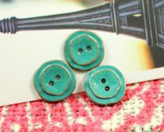 Retro Green Turquoise Buttons