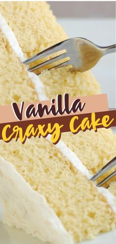 A dairy-free and egg free Vanilla Crazy Cake perfect for those with food allergies! This homemade vanilla cake recipe is a quick and delicious way to satisfy our sweet tooth. Have fun making this vanilla cake from scratch! Crazy Cakes, Crazy Cake Recipes, Wacky Cake Recipe, 3 Egg Cake Recipe, Vinegar Cake Recipe, Vanilla Crazy Cake Recipe, Dairy Free Vanilla Cake, Eggless Vanilla Cake Recipe, Cake Recipes Without Eggs