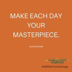 Begin your masterpiece today at http://forgottenharvest.org/volunteer/