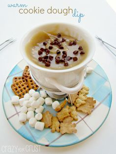 It's cookie dough - all melted and warm for dipping! Cookie Dough Fondue will be your new addiction!