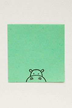 Cute Baby Hippo peek-a-boo stamp kids gift door WoodlandTale