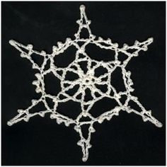 BRENDAS DESIGNS 1961: August: Free Crochet Snowflake Pattern