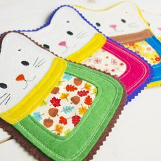 ITH Happy cat machine embroidery design - In the hoop project Instant download