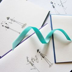 Roarin' Twenties Stationery, Set of 8 Blank Notecards- LOinLONDON® fine paper goods + whimsical design | www.loinlondon.com