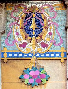 carrer Girona 123. Barcelona, Catalonia. f | Flickr - Photo Sharing! Art Deco Tiles, Mosaic Tile Art, Barcelona Architecture, Art Nouveau Architecture, Beautiful Places In Spain, Vignette Design, Barcelona Catalonia, Iron Work, Ceramic Art