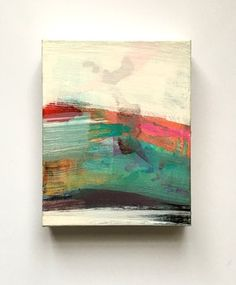 "Sail 1 (9"" x 12"") Eva Magill Oliver  Why do I expect abstracts to be large??"