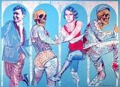 "Grobgrafik Portfolio » Silkscreen Print: ""Reigen"""