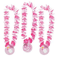 """""""It's A Girl!"""" Leis - OrientalTrading.com  LoovVVVVVEEee this! Would go great with the monkey luau theme!"""